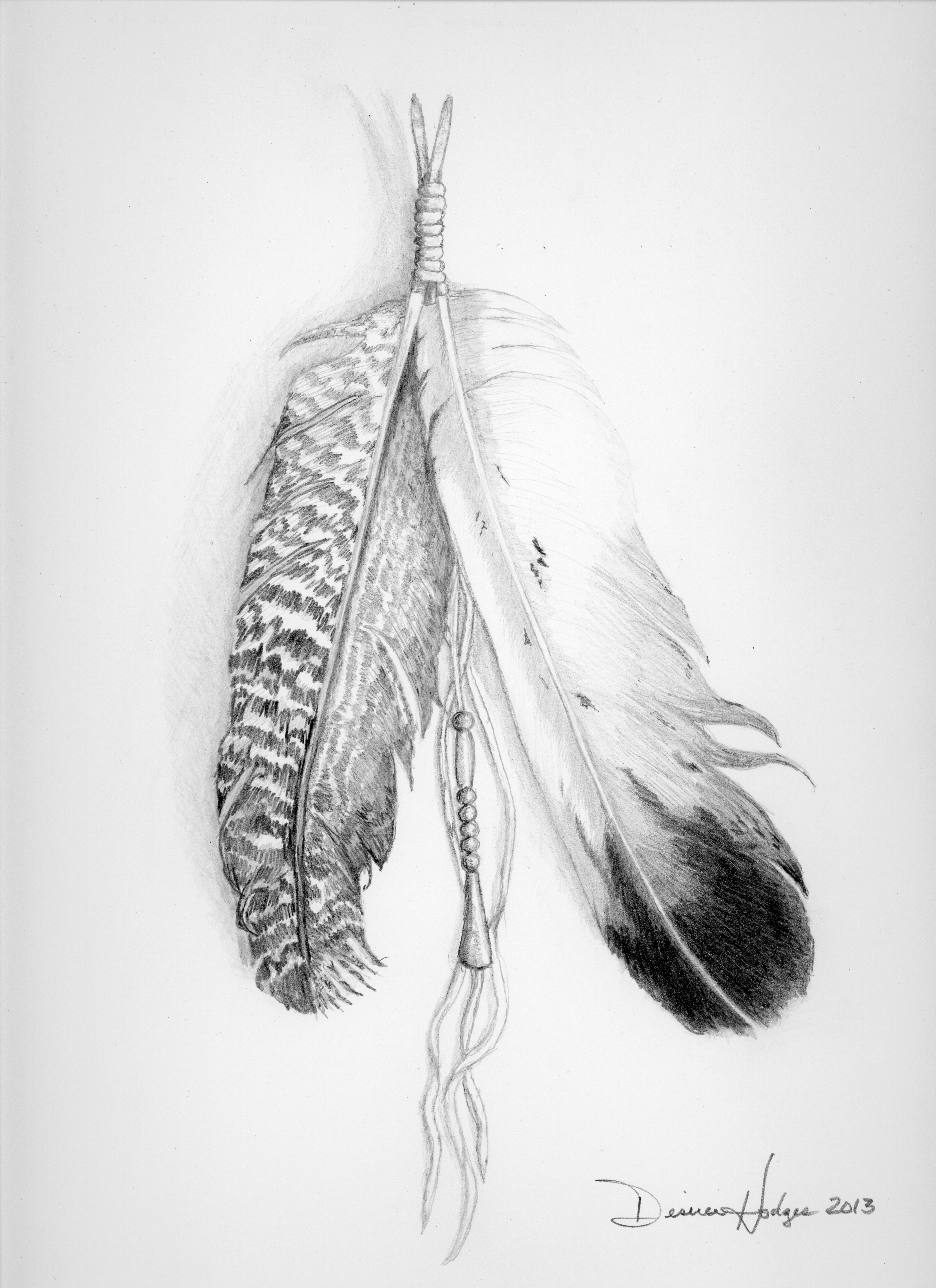 Native American Feather Sketch Eagle feather native american related ...